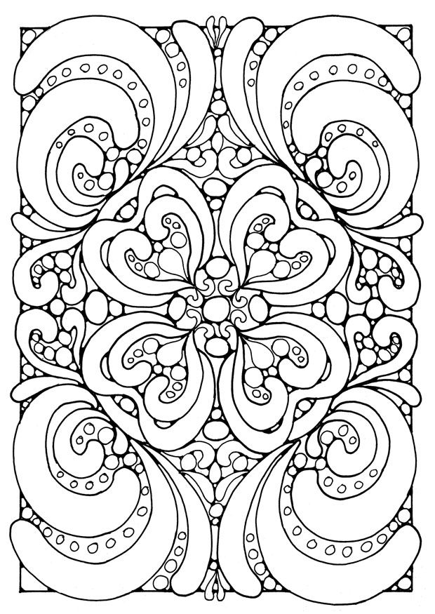 hard coloring pages downloadable - Coloring Pages Difficult Printable