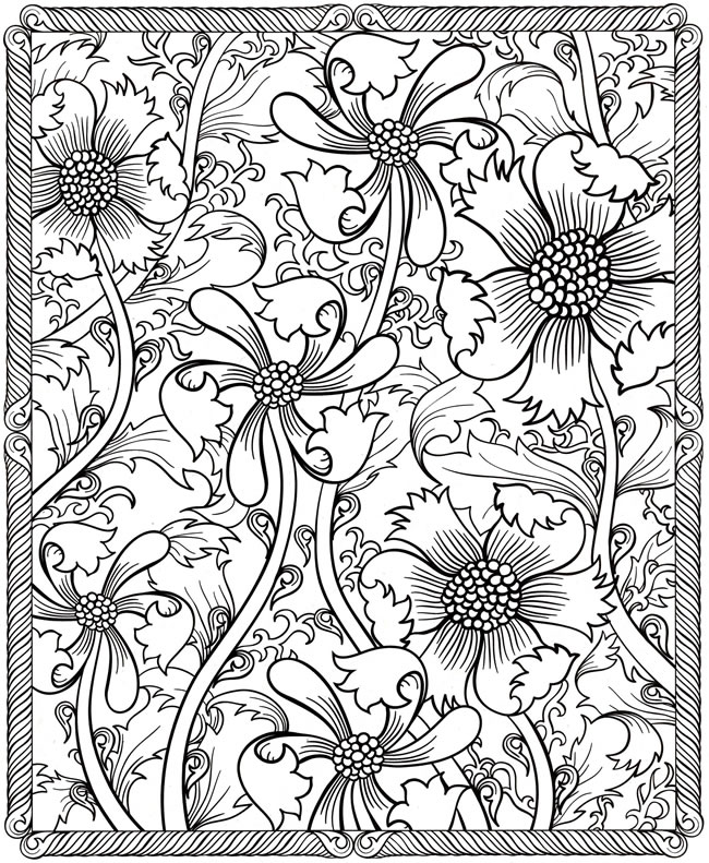 hard coloring pages images - Coloring Book Pages For Adults 2