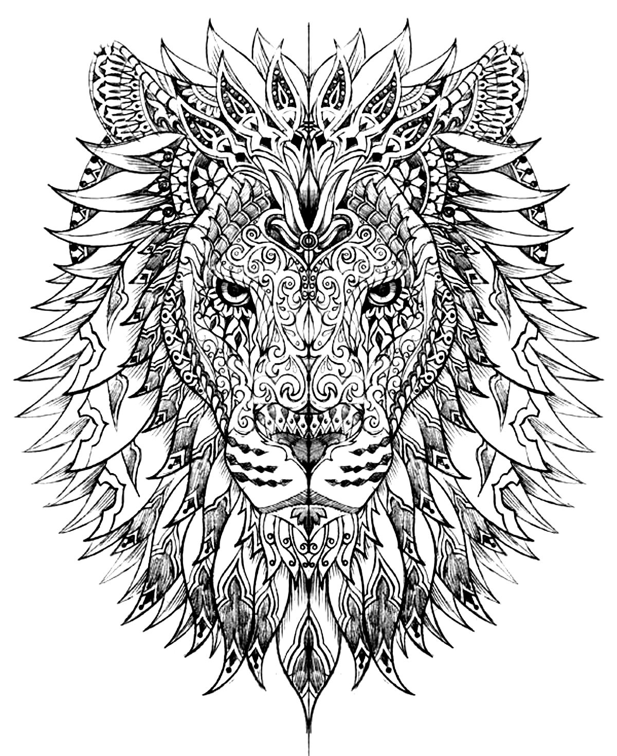 hard coloring pages for free - photo#34