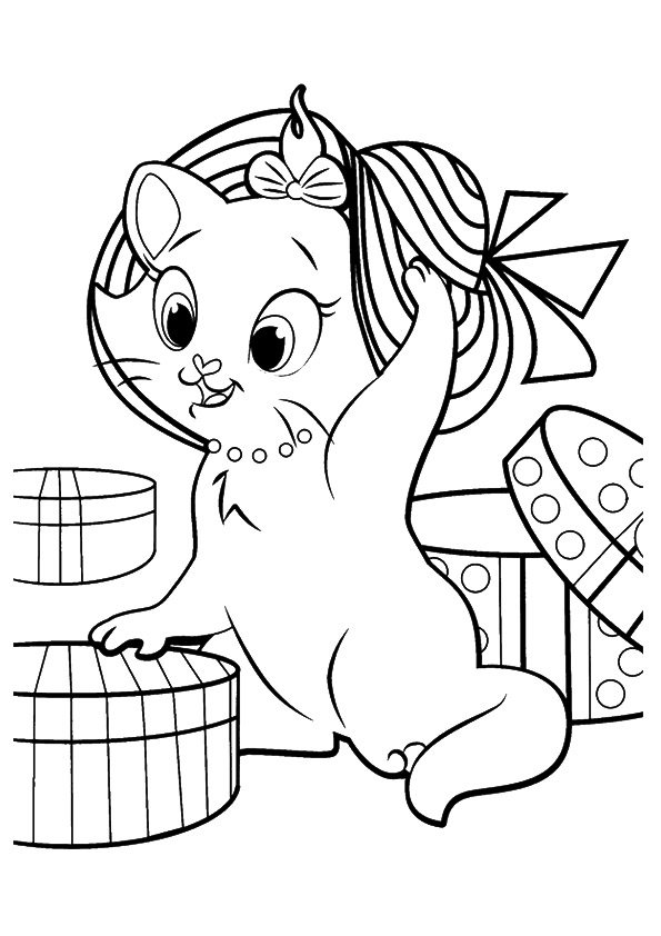 kitten printout coloring pages - photo#13
