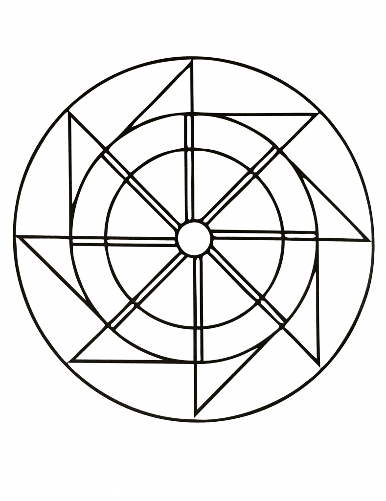 related simple mandalas coloring pages - photo#20