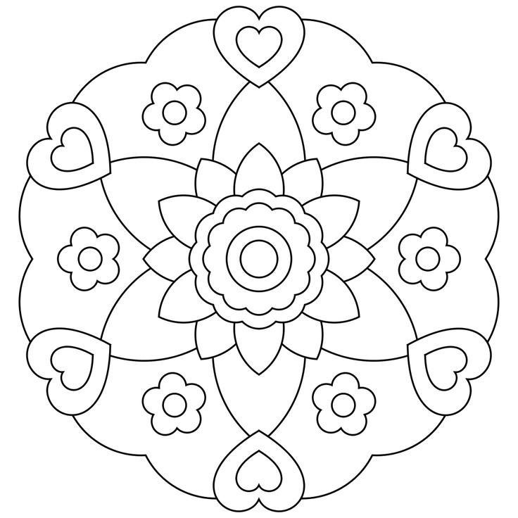 mandalas for kids - Simple Mandala Coloring Pages Kid