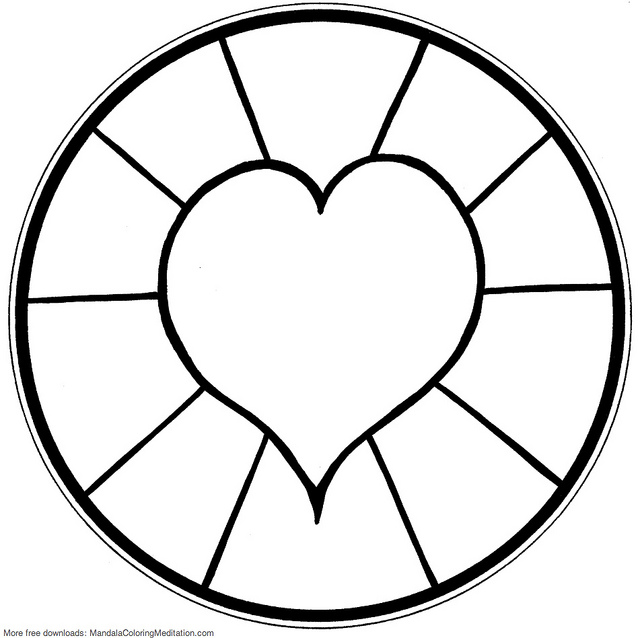 mandalas to print and color - Simple Mandala Coloring Pages Kid
