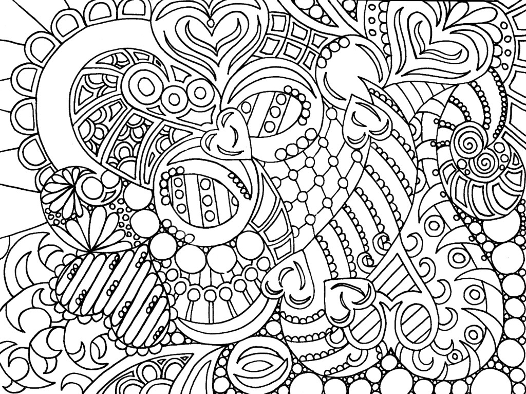 print hard coloring pages for adults - Adult Color Pages