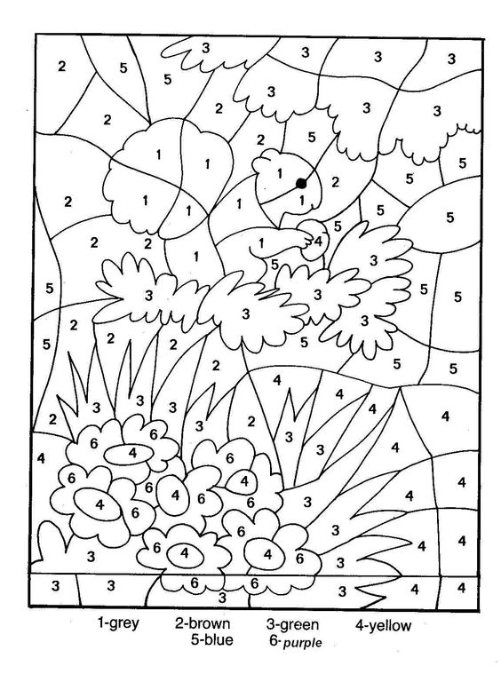 printable color by numbers sheets - Coloring Pages With Numbers