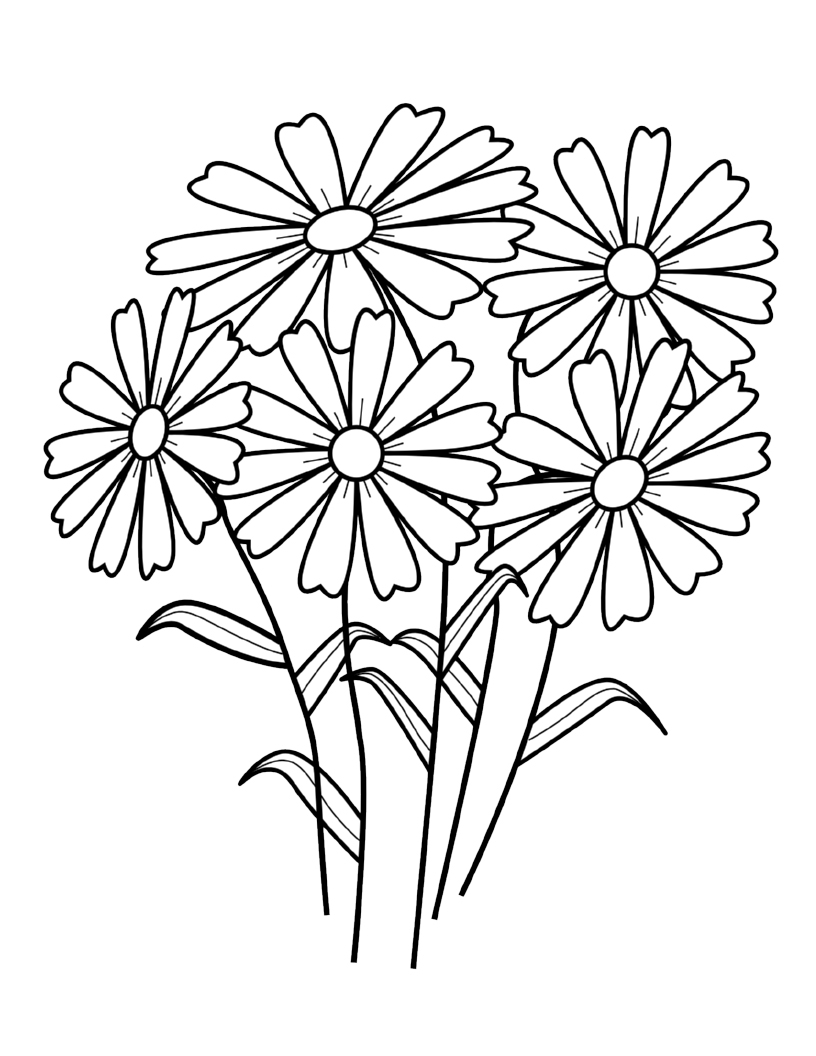 Flower Coloring Pages. Wild Flowers To Color