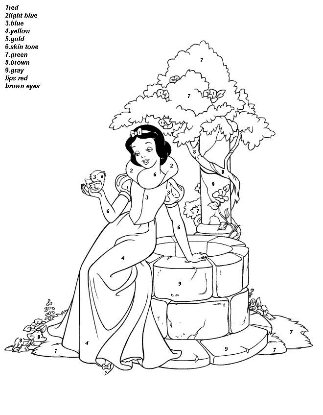 color by number coloring pages worksheets to color - Free Printable Christmas Color By Number Coloring Pages