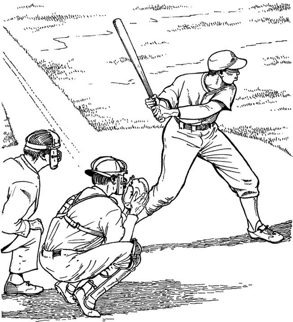 coloring book pages baseball field - photo#15