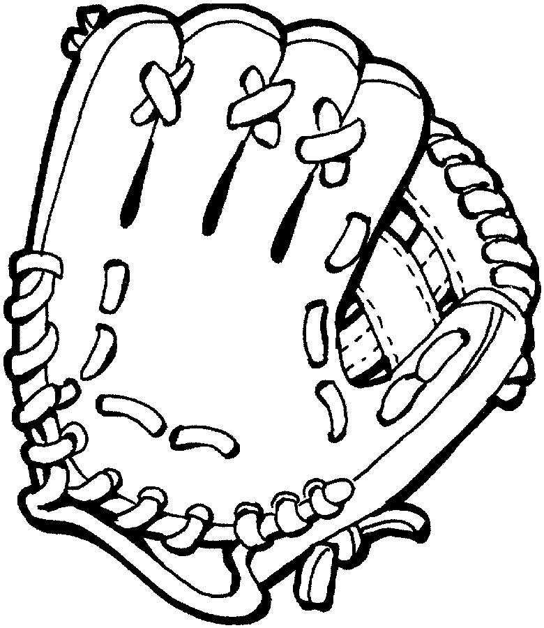 baseball glove coloring pages - photo#1