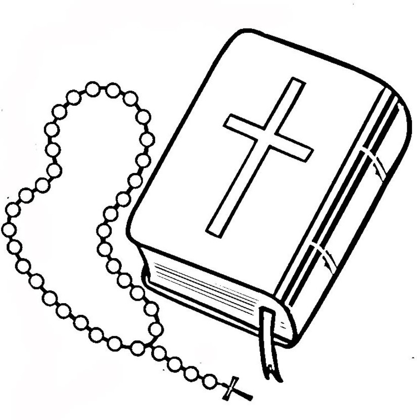 It is a photo of Delicate Free Printable Christian Coloring Pages