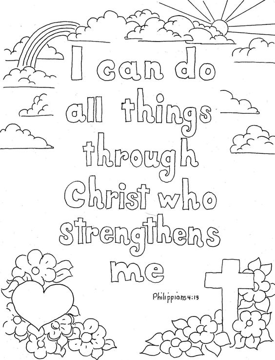 bible verses coloring pages - Christian Coloring Pages Print