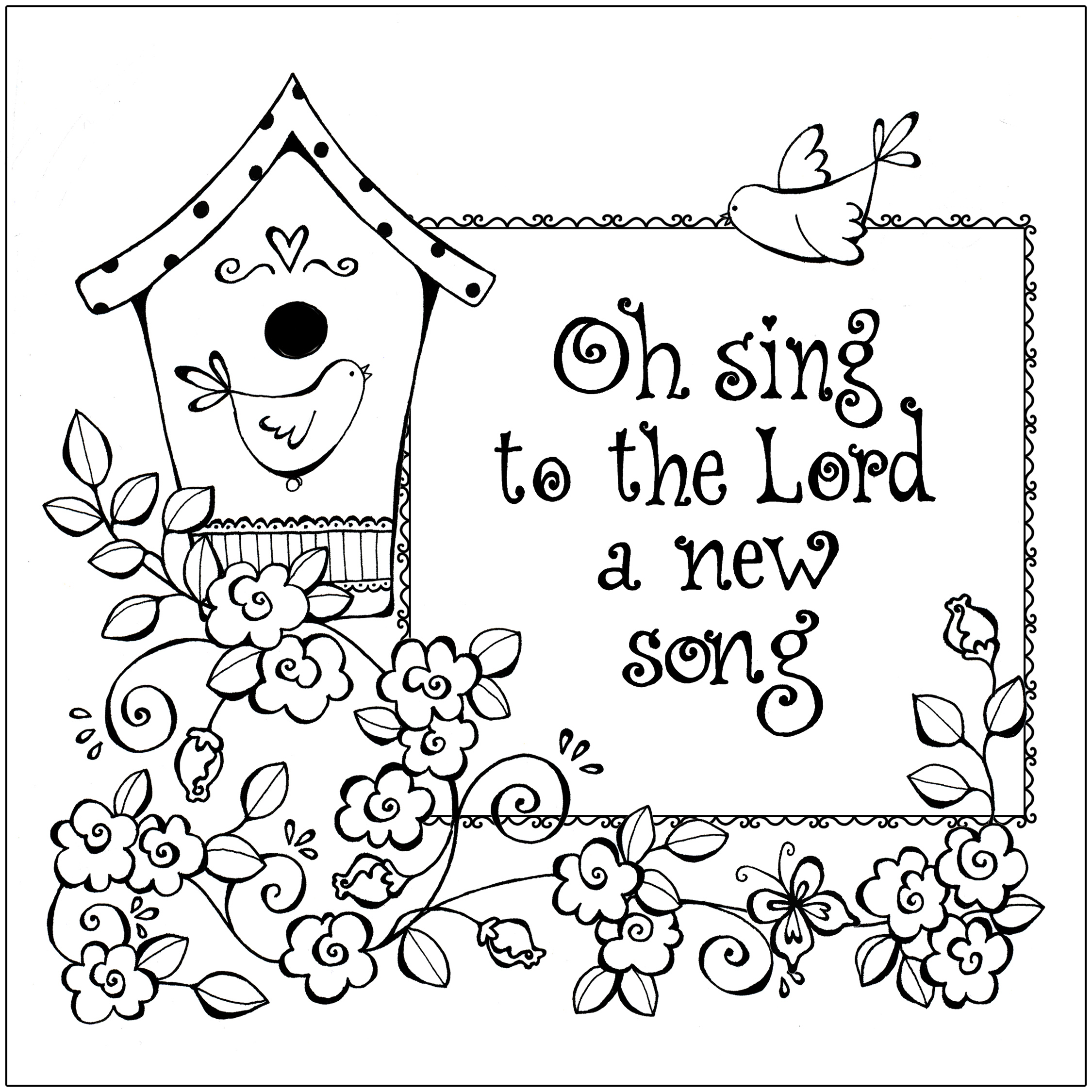 Free coloring pages new year 2016 - Christian Coloring Page Printable Images