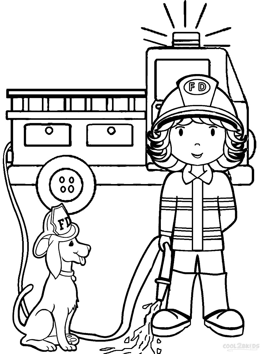 free coloring pages of firemen - photo#14