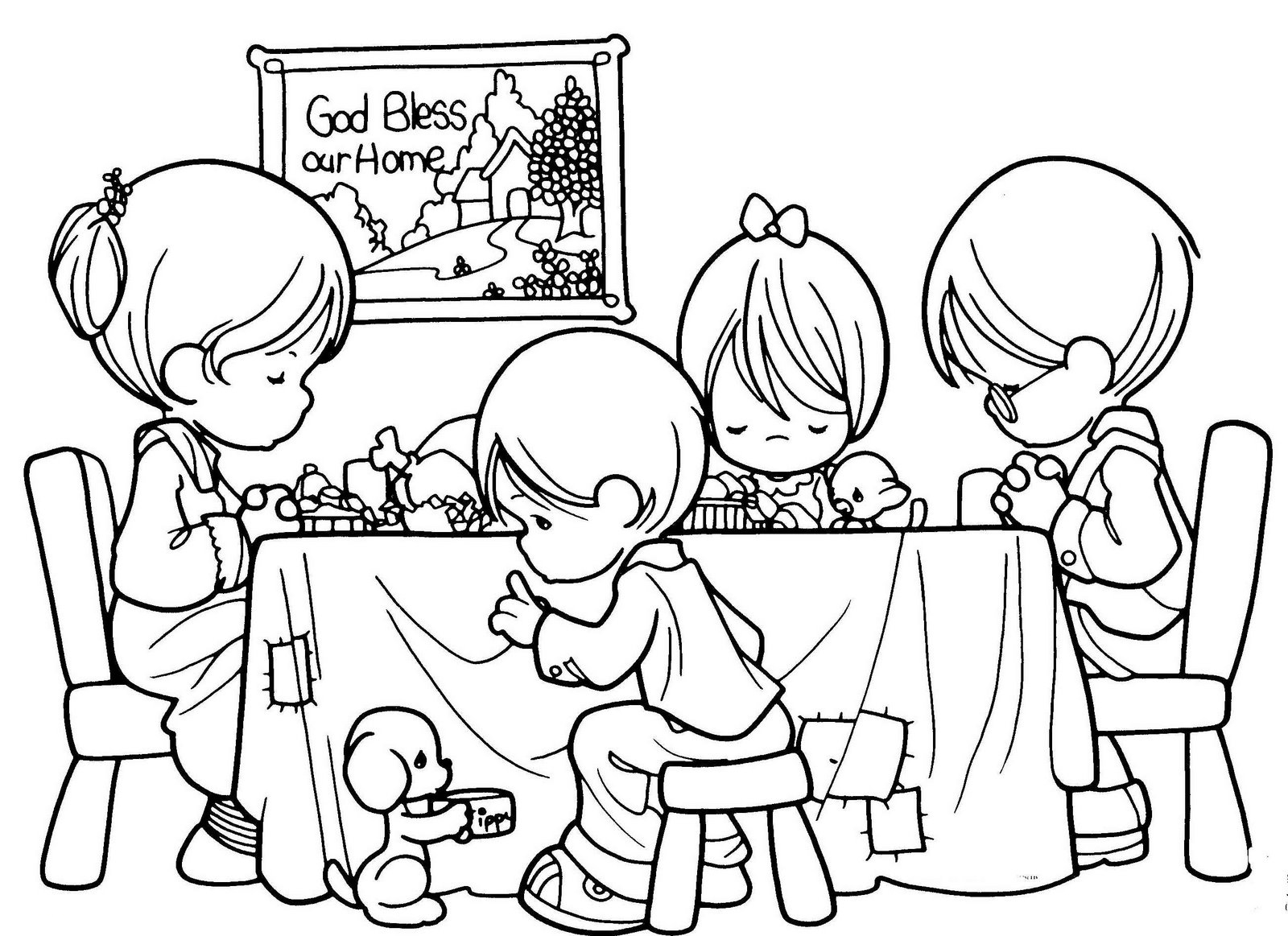 children coloring pages of families - photo#35