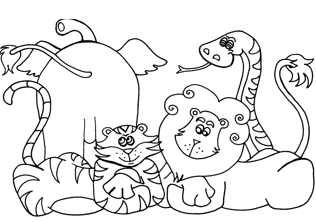 Free printable preschool coloring pages best coloring for Fun animal coloring pages