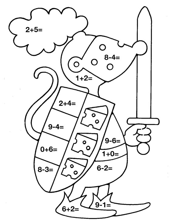 addition coloring pages free-#36