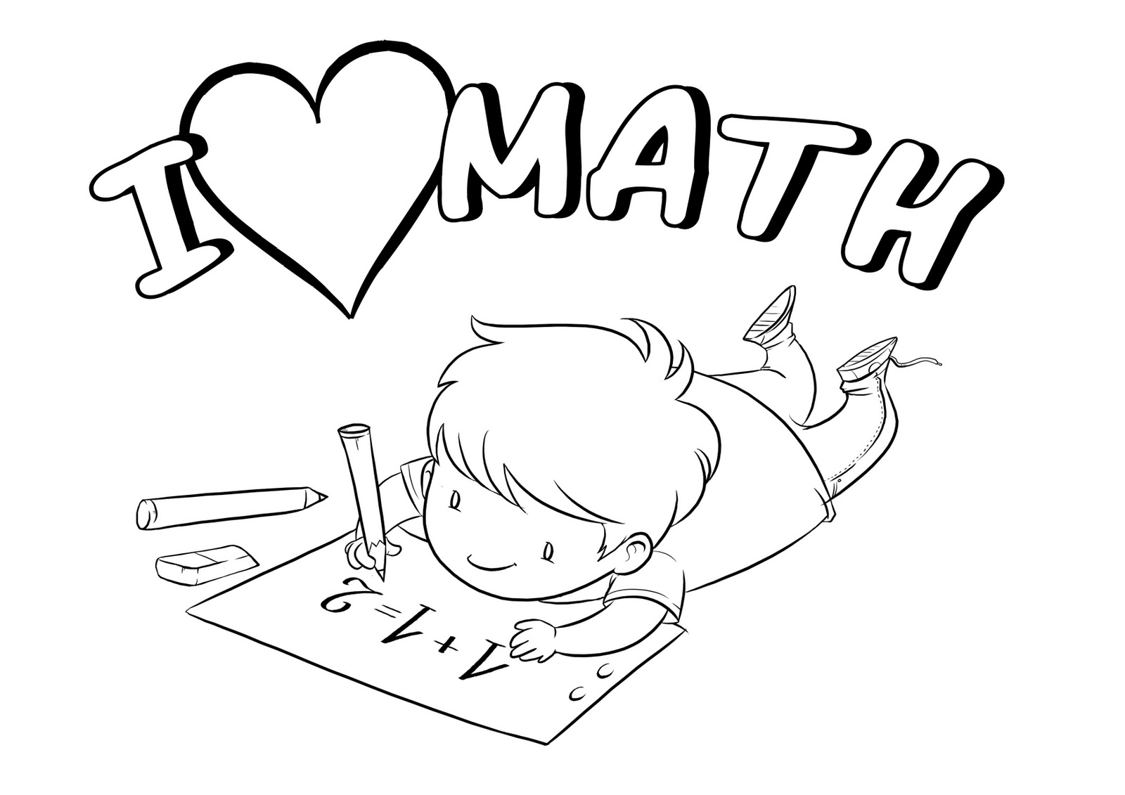 Coloring sheets with math problems - Math Coloring Pages Free Download