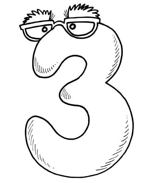 Number 3 Coloring Pages Printable Coloring Coloring Pages