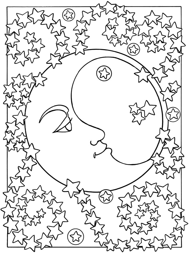 moon and stars coloring pages free printable moon coloring pages for kids best