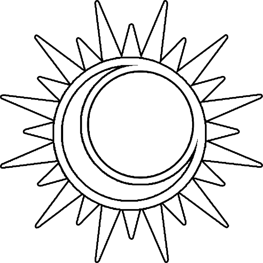 Colouring pages for sun - Sun Moon Coloring Page