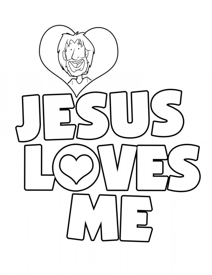 Free printable christian coloring pages for kids best for Coloring pages of jesus