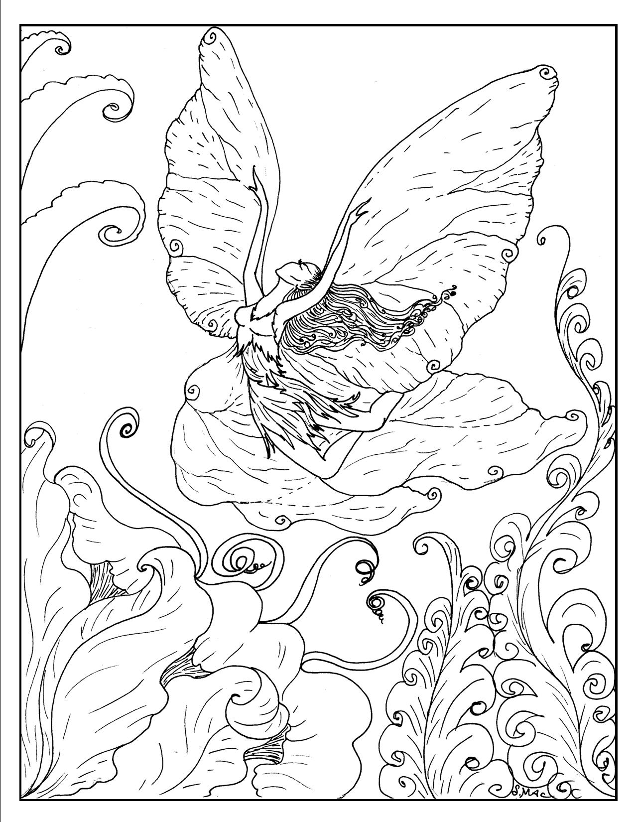 Free Printable Fantasy Coloring Pages for Kids Best Coloring
