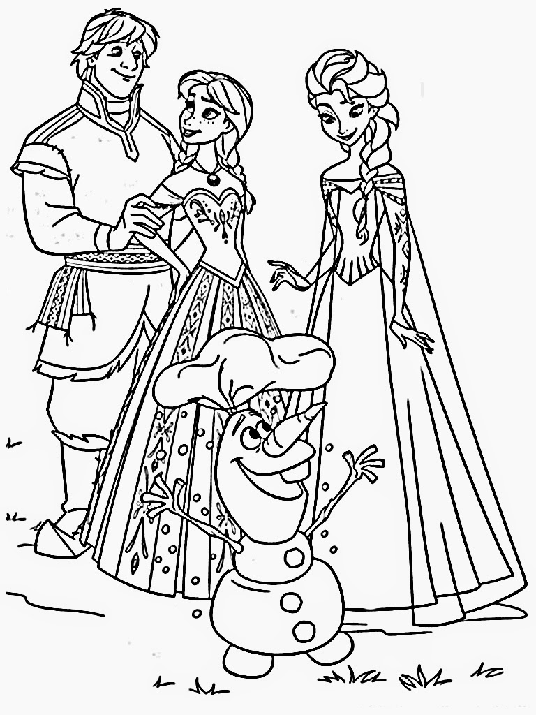 Free coloring in pages frozen - Free Frozen Coloring Pages