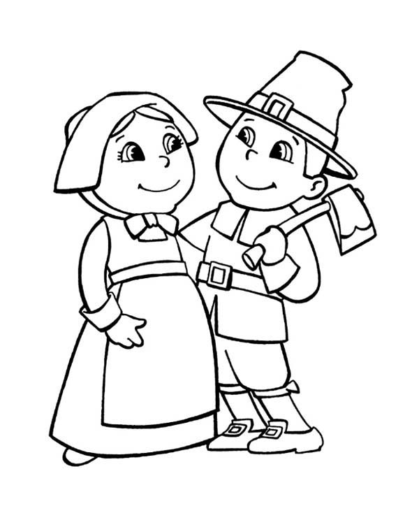 free pilgrim coloring pages - Children Coloring Pages