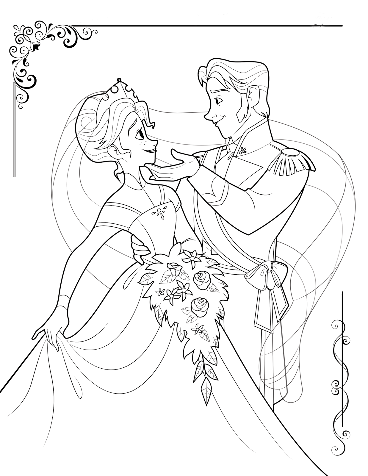 Free To Print Frozen Coloring Pages