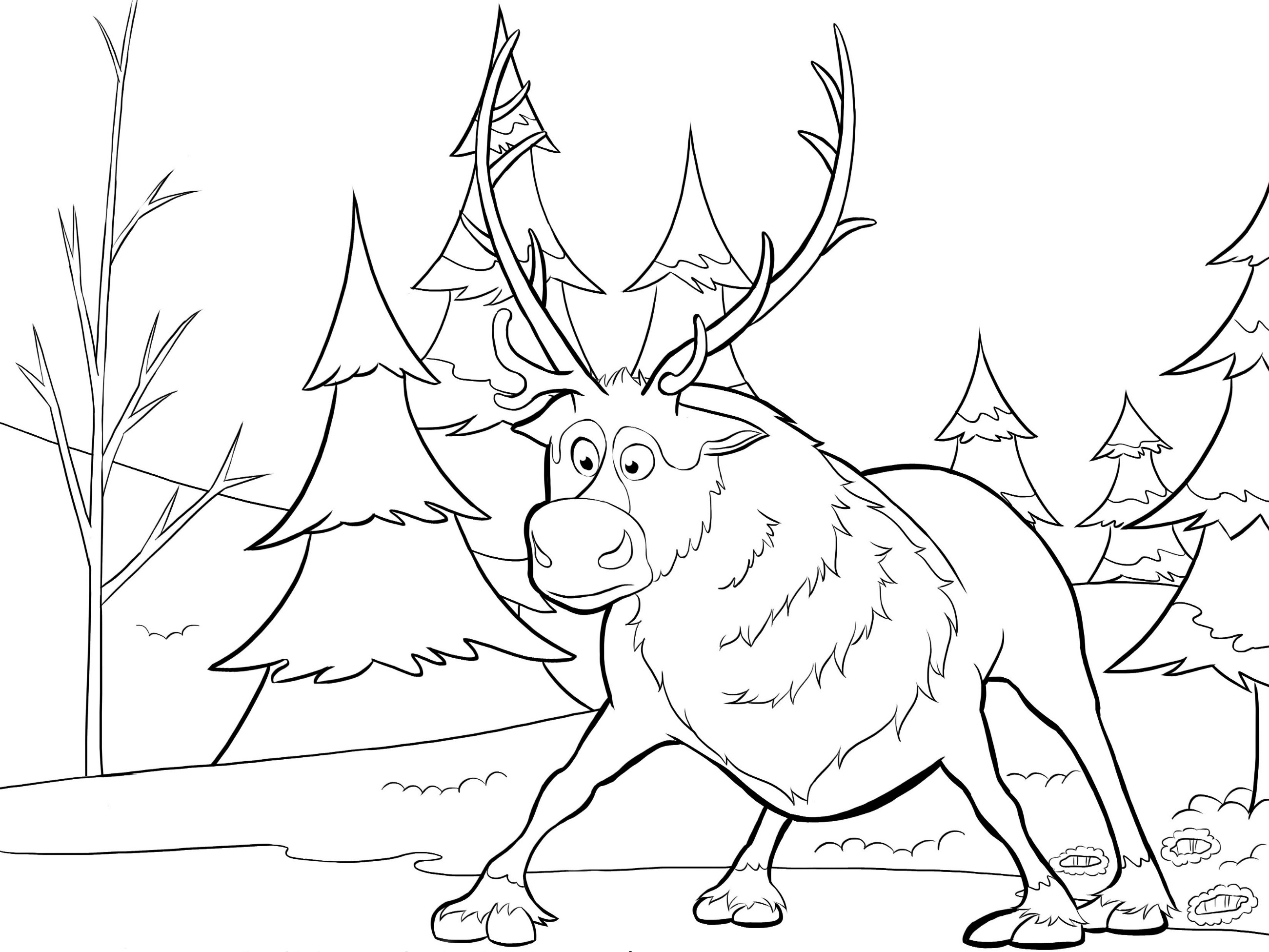 disney frozen sven drawing - photo #41