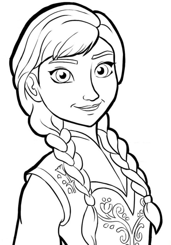 frozen coloring pages anna printable