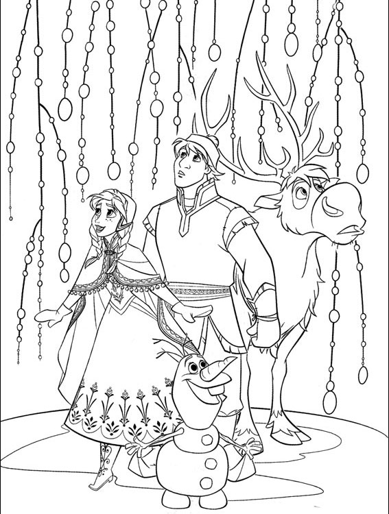free printable frozen coloring pages for kids best - Frozen Printable Coloring Pages