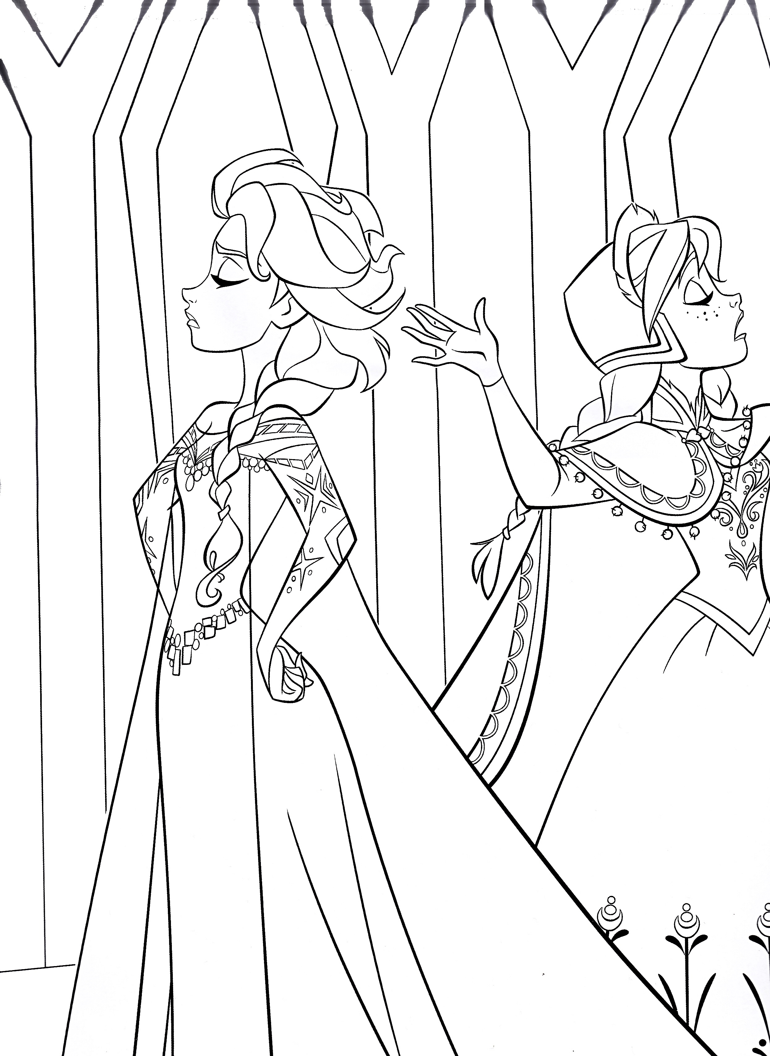 Anna disney frozen coloring pages - Frozen Coloring Pages