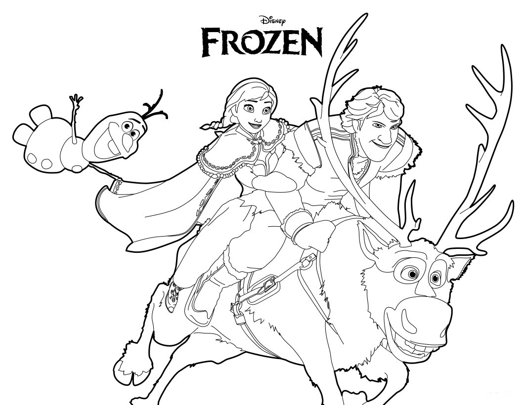 Free Printable Frozen Coloring Pages for Kids - Best Coloring Pages ...