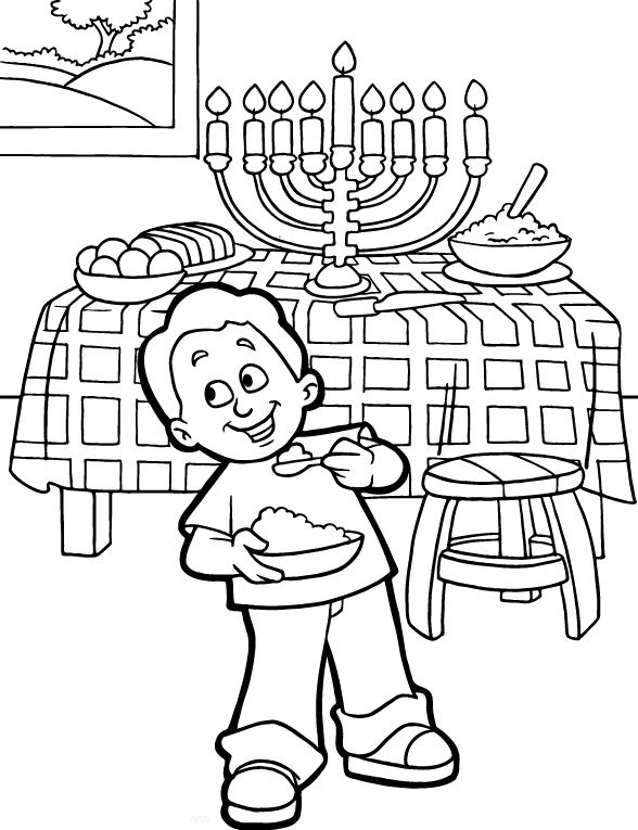 hanukkah coloring pages printable - photo#20