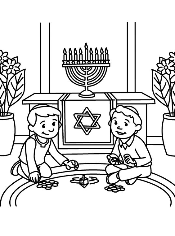 hanukkah coloring pages printable - photo#15