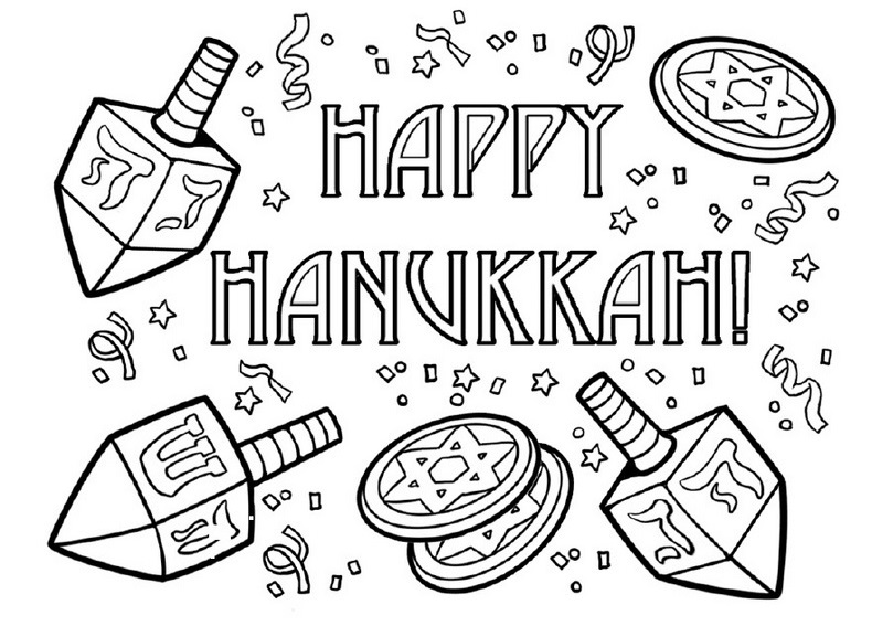 hanukkah symbols coloring pages - photo#9