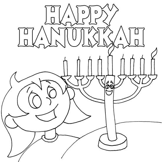 hanukkah coloring sheets