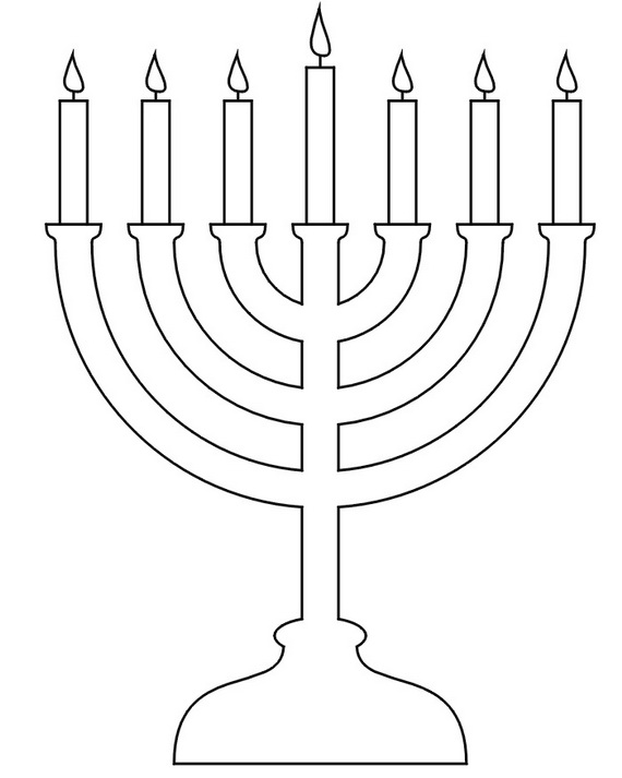 Image Result For Coloring Page Hanukkah Menorah