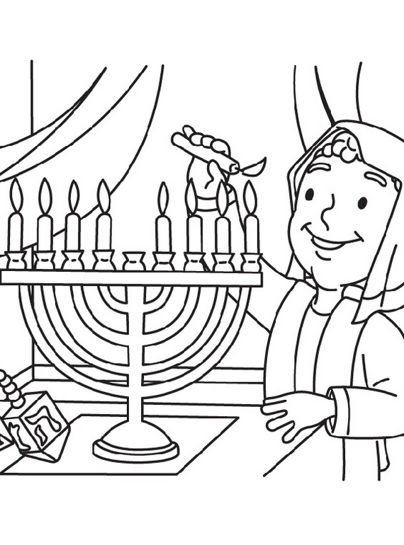 hanukkah symbols coloring pages - photo#3