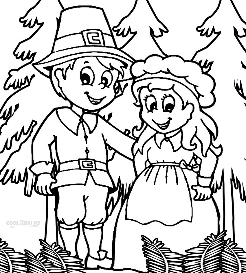 free printable pilgrim coloring pages for kids best coloring