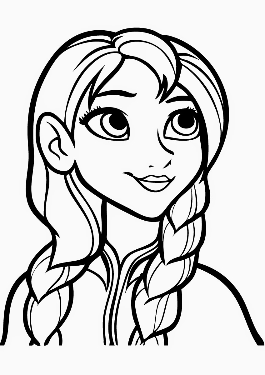Free coloring pages printable frozen - Print Coloring Pages Of Anna