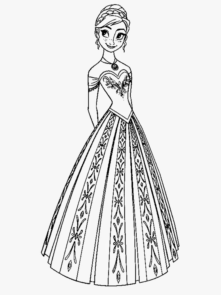 print frozen coloring sheets free - Elsa And Anna Coloring Pages