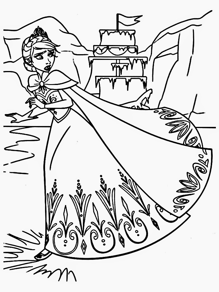 Frozen printable coloring book - Printable Frozen Coloring Page For Free