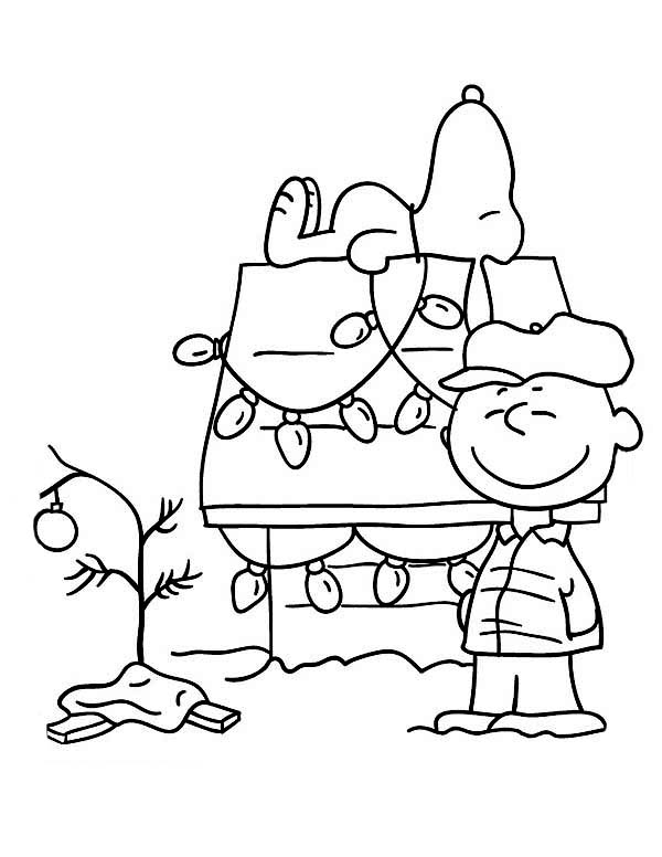 Free printable charlie brown christmas coloring pages for for Christmas coloring in pages