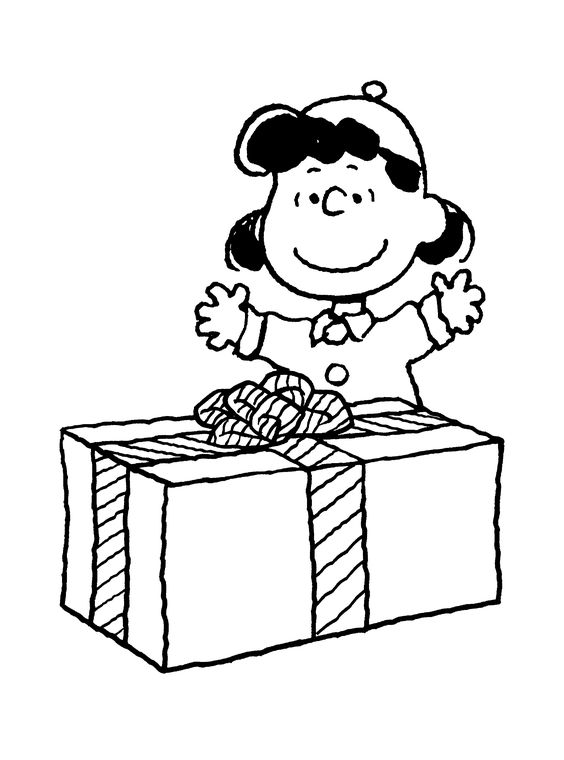 Charlie Brown Christmas Coloring Page Lucys gift