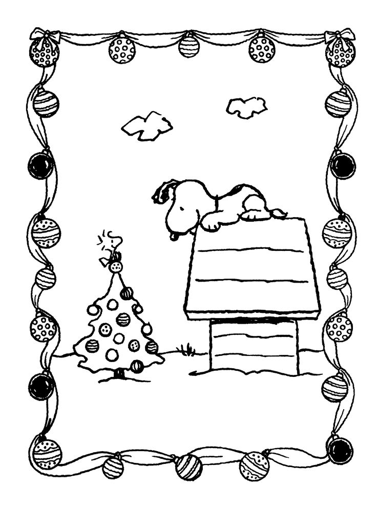 charlie brown christmas coloring page printable - Christmas Coloring Sheets Print