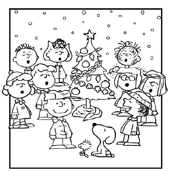 charlie brown chirstmas coloring pages - photo#8