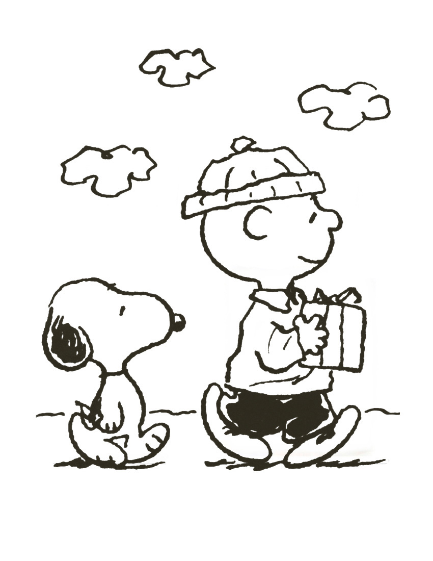 Charlie brown christmas coloring pages to print - Charlie Brown Christmas Coloring