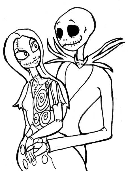Nightmare Before Christmas Coloring Pages Prepossessing Free Printable Nightmare Before Christmas Coloring Pages  Best 2017